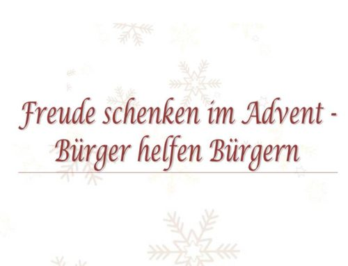Freude schenken im Advent, Bürger helfen Bürgern
