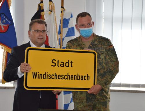 Patenschaftsappell Stadt Windischeschenbach mit 4./Artilleriebataillon 131
